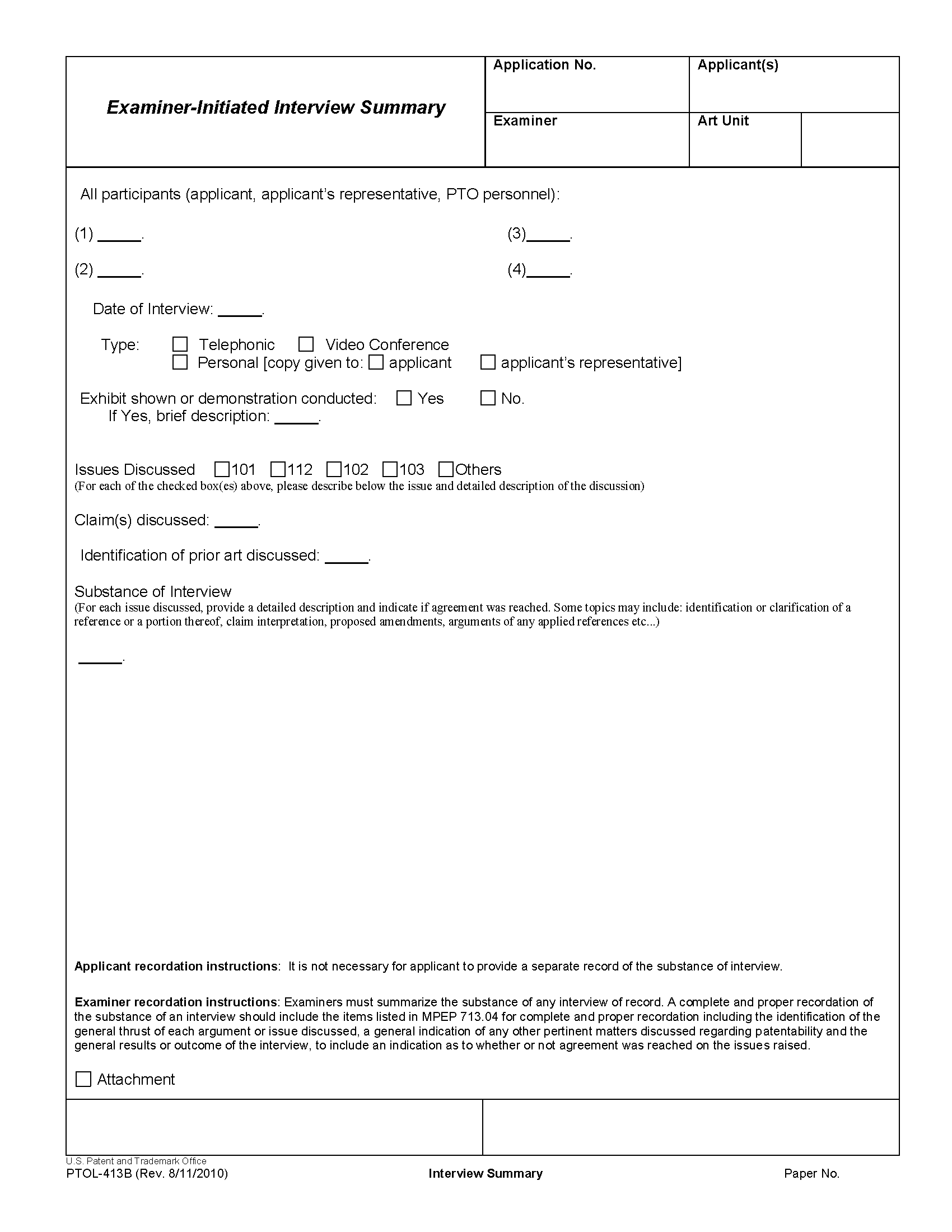 manual for filling out trademarking application