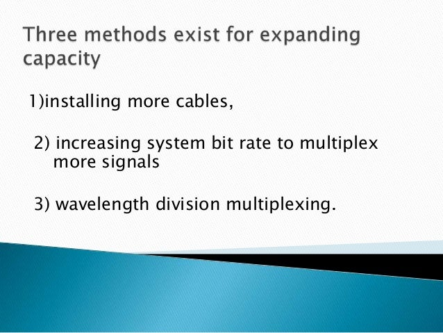 applications wavelength division multiplexing wdm