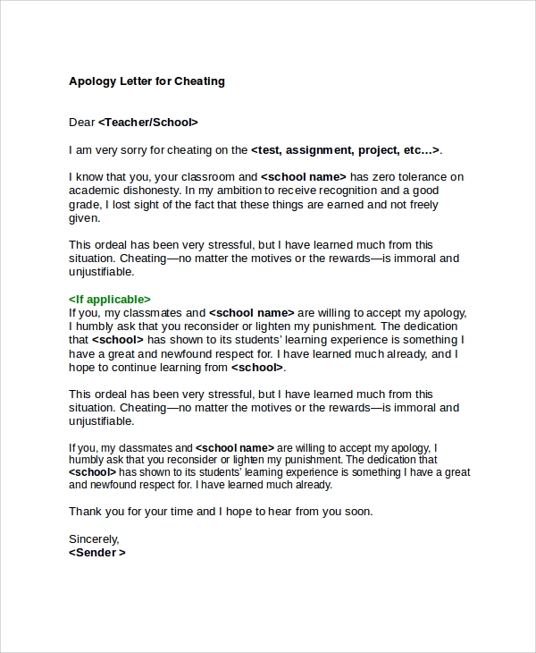 Apology Letter To Professor For Cheating from disasterdistress.org