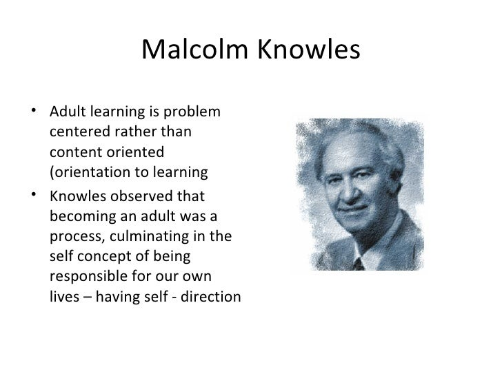 application of knowles learning theory