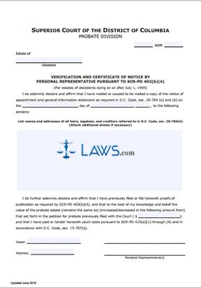 transmission application and certificate of appointment