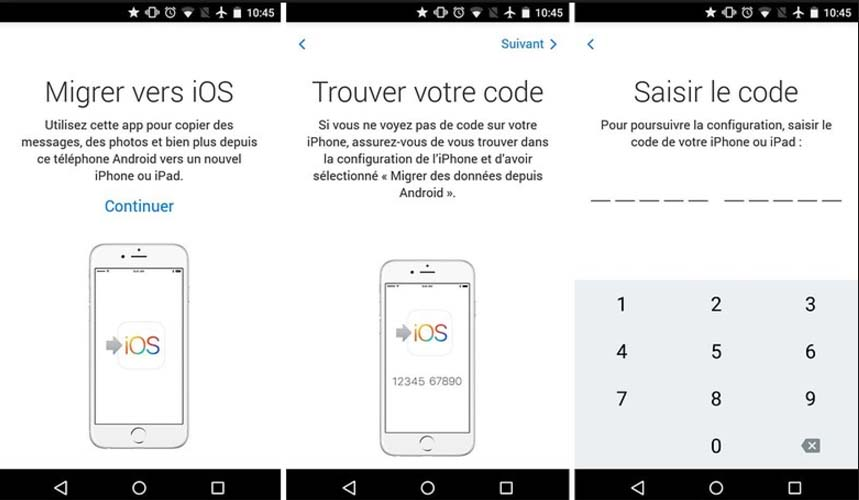 transferer une application payante android vers iphone