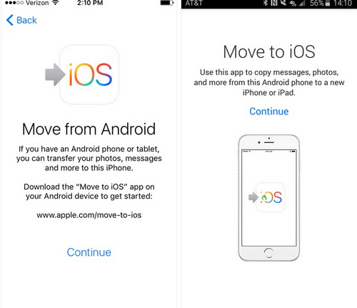 android application to export to iphone