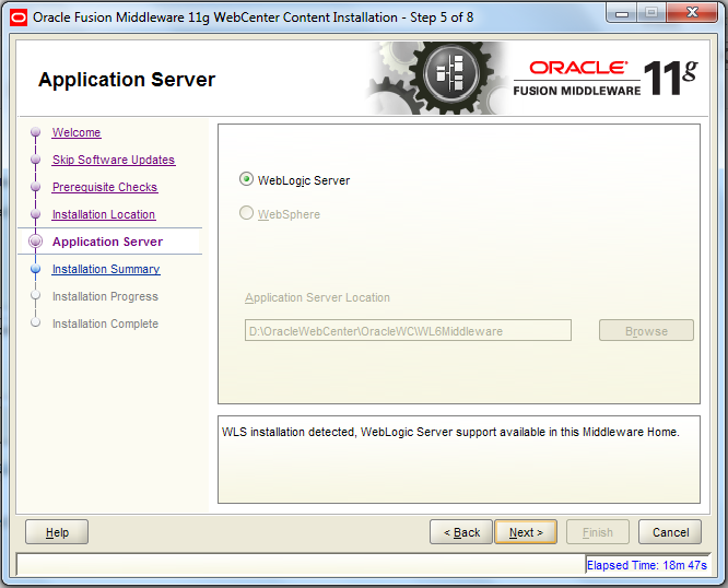 install application server and php server separately