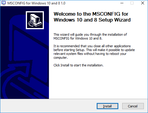 windows install wizard for python applications